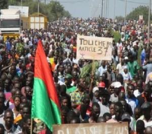 soulevèment du Burkinabè qui a fait partir Blaise Compaoré du pouvoir